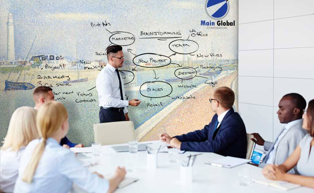 artistic design zero ghosting writable wall covering