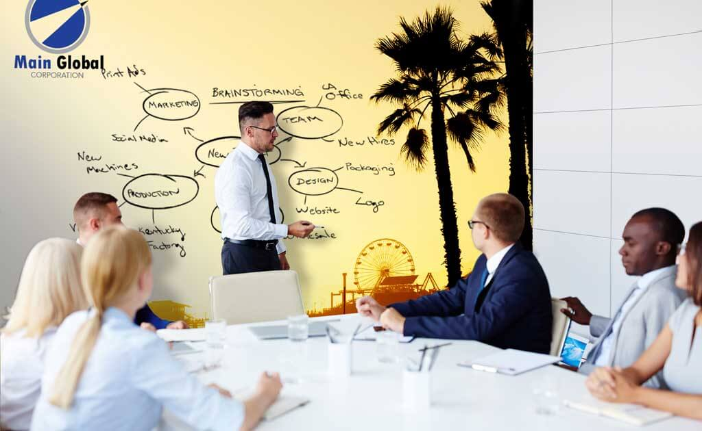 beach design zero ghosting writable wall covering