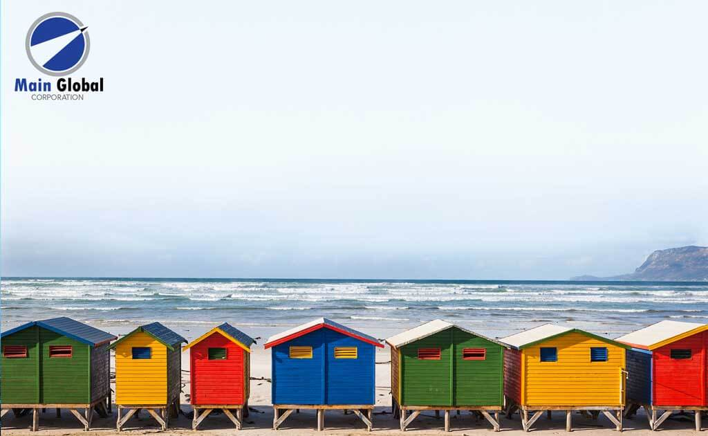 Image of beach design zero ghosting writable beach houses wall covering