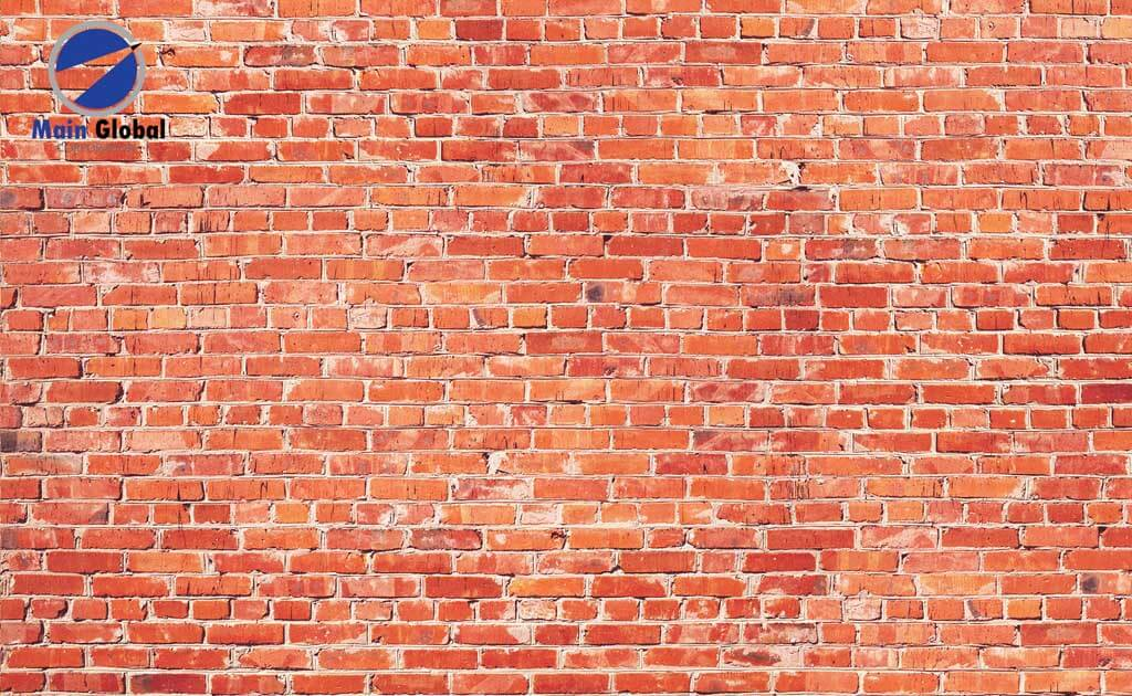 Image of Brick RED BRICK zero ghosting writable wall covering