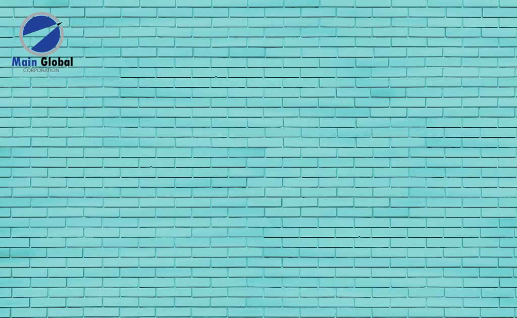 Turquoise Brick zero ghosting writable wall covering