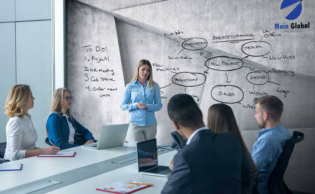 Image of Concrete Trapezoid zero ghosting writable wall covering