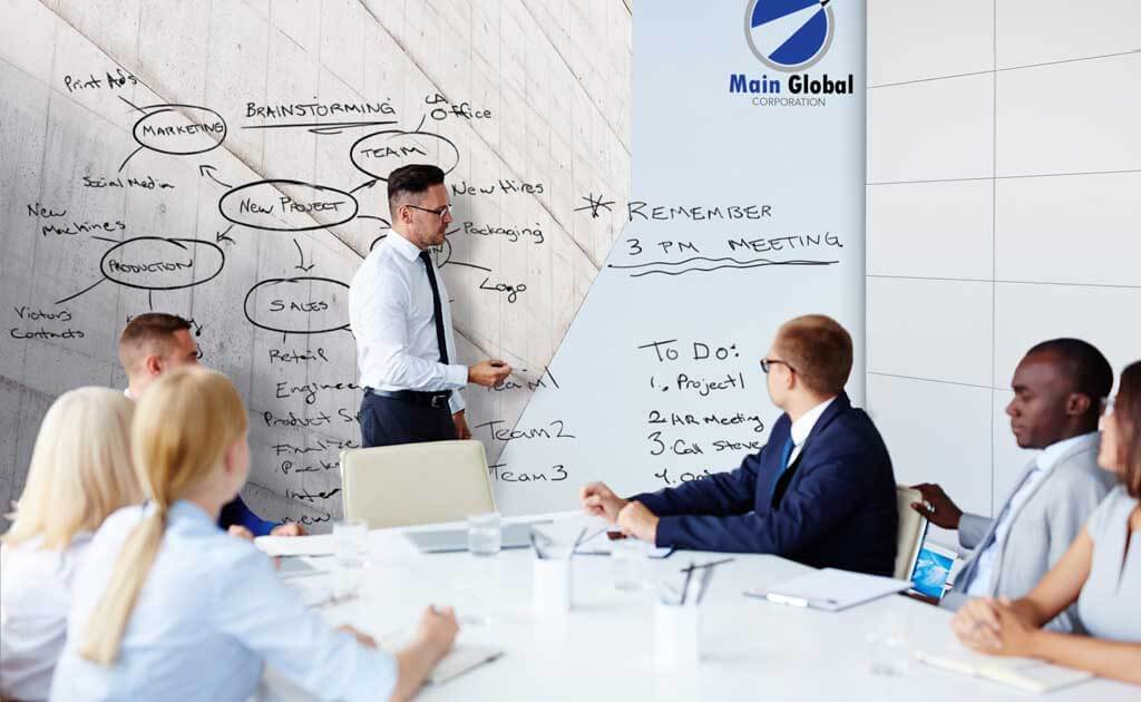 Image of Concrete Sky zero ghosting writable wall covering