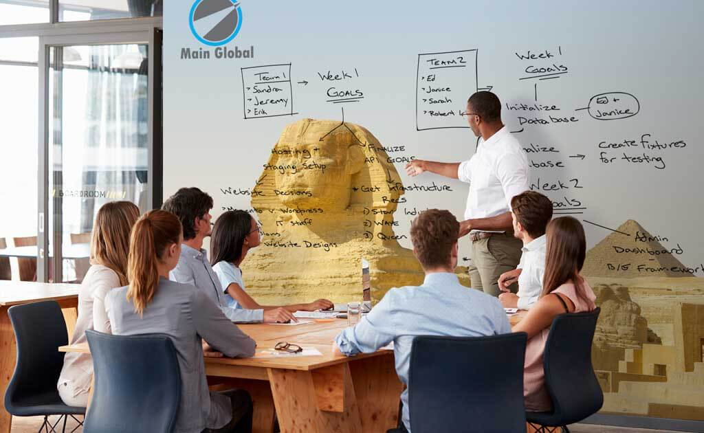 landscape theme design zero ghosting writable wall covering