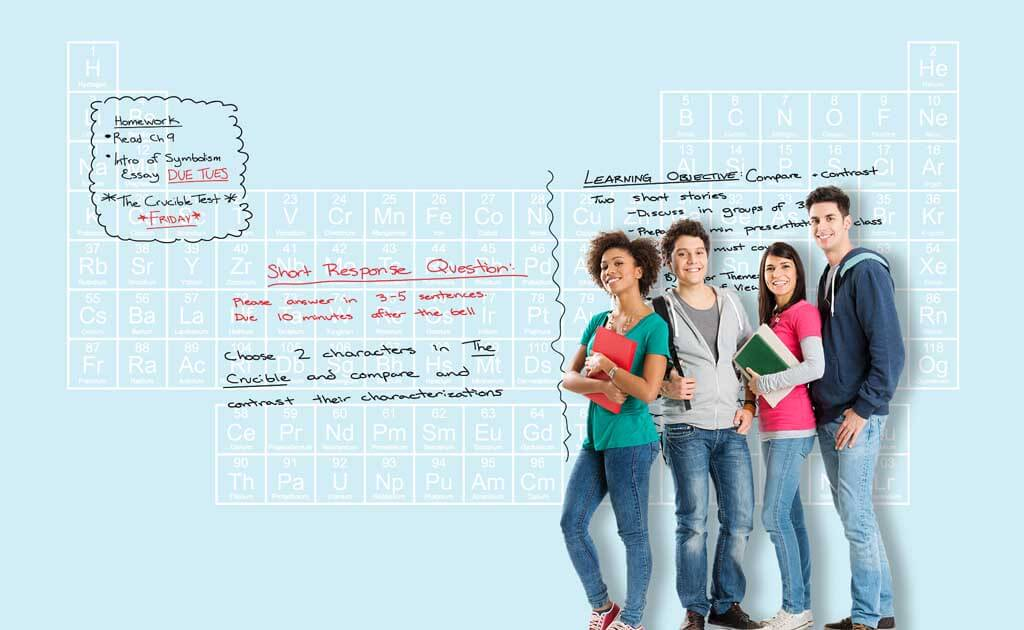 educational design zero ghosting writable wall covering