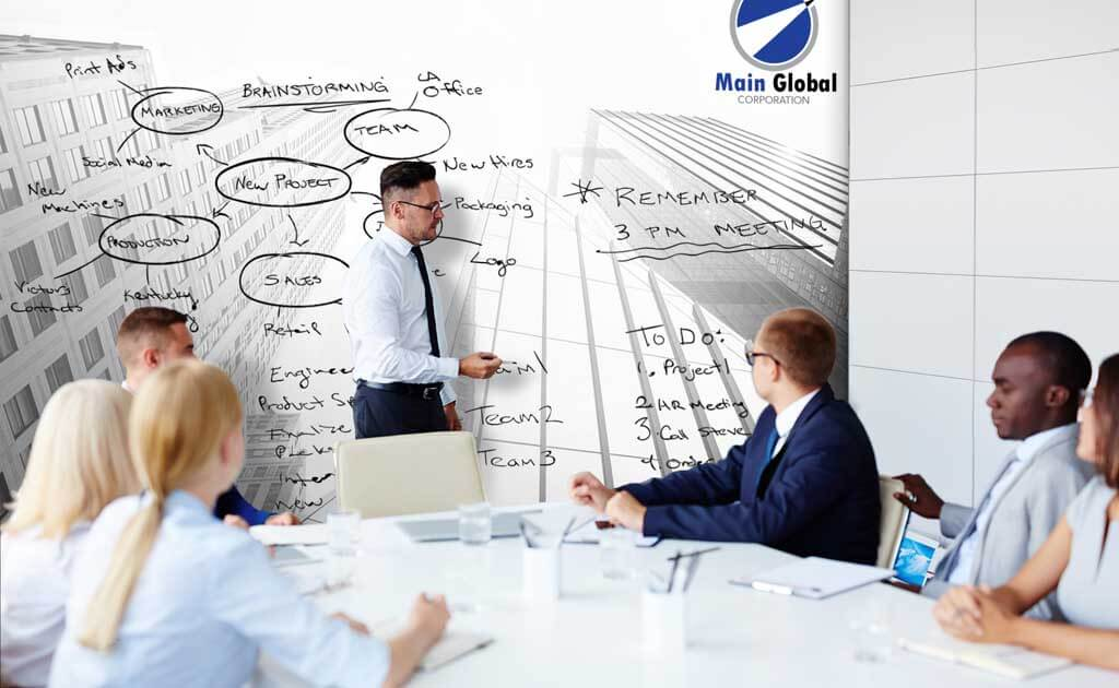 Image of architecture theme design zero ghosting writable Skyscrapers wall covering