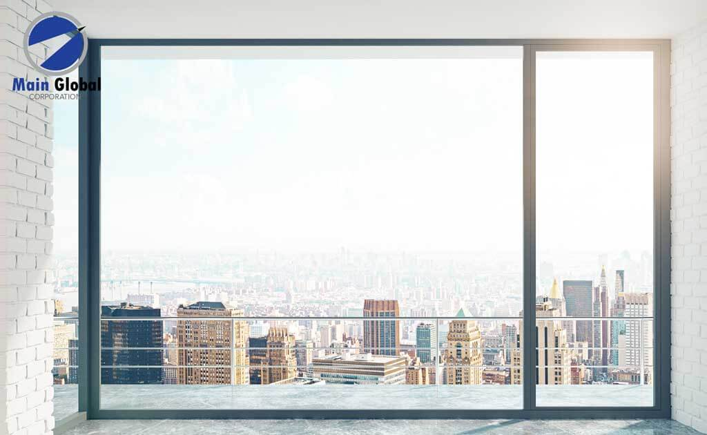 Skyline theme design zero ghosting writable wall covering