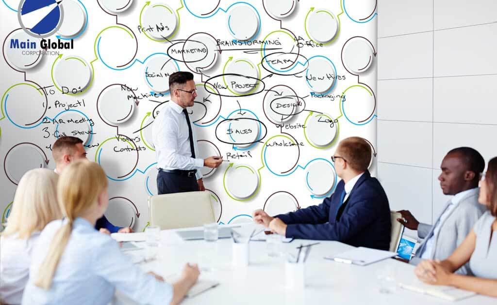 Functional theme design zero ghosting writable wall covering